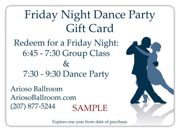 Friday Night Dance Party GC Sample